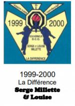 Serge Millette et Louise gouverneur du District Centre du Québec 1999-2000 thème La Différence